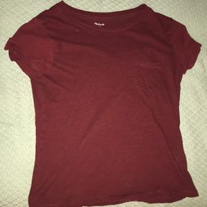 maroon/red T-shirt from madewell,Small but flowy